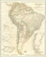 South America and Peru & Ecuador Map By John Arrowsmith