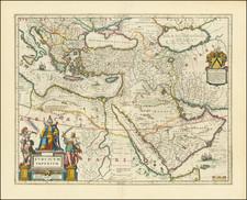 Turkey, Mediterranean, Middle East, Turkey & Asia Minor and Balearic Islands Map By Johannes et Cornelis Blaeu