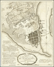 South Carolina and American Revolution Map By Charles Picquet