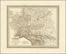 Poland, Russia and Baltic Countries Map By Louis Vivien de Saint-Martin