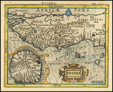 West Africa Map By Jodocus Hondius - Gerhard Mercator