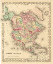 North America By Joseph Hutchins Colton