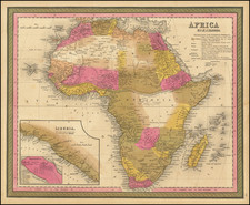 Africa Map By Samuel Augustus Mitchell