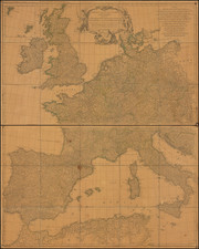Europe Map By Jean-Baptiste Bourguignon d'Anville