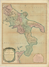 Southern Italy Map By Laurie & Whittle