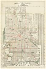 Minnesota Map By F.W. Yarwood