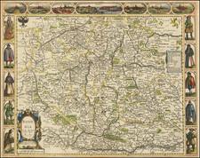 Czech Republic & Slovakia Map By John Speed