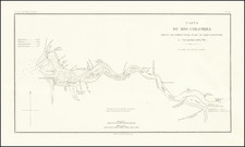 Pacific Northwest, Oregon and Washington Map By Eugene Duflot De Mofras