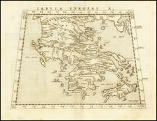 Greece Map By Girolamo Ruscelli