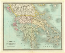 Greece Map By Henry Teesdale