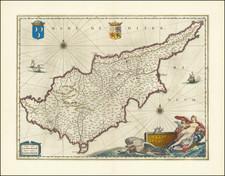 Cyprus Map By Willem Janszoon Blaeu