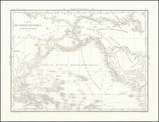Pacific Ocean and Pacific Map By Eugene Duflot De Mofras