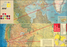 World, Polar Maps and Canada Map By Esselte Map Service