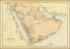 Middle East and Arabian Peninsula Map By Blackie & Son