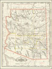 Arizona Map By George F. Cram