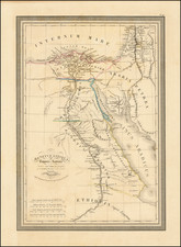Egypt Map By Louis Vivien de Saint-Martin