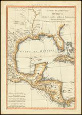 L'Ancien et Le Nouveau Mexique, Avec La Floride Et La Basse Louisiana.  Partie Orientale By Rigobert Bonne