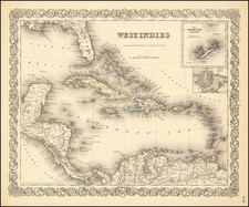 Caribbean Map By Joseph Hutchins Colton