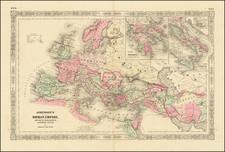 Johnson's Roman Empire, Imperium Romanorum Latissime Patens By Alvin Jewett Johnson  &  Benjamin P Ward