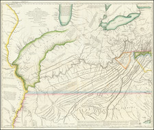 Pennsylvania, Alabama, Mississippi, Kentucky, Tennessee, Virginia, Midwest, Illinois, Indiana and Ohio Map By Thomas Hutchins