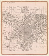 San Diego and Other California Cities Map By William E. Alexander