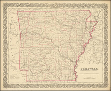 Arkansas By Joseph Hutchins Colton