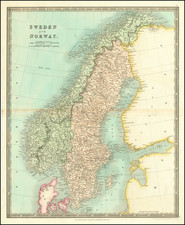Scandinavia, Sweden and Norway Map By Henry Teesdale