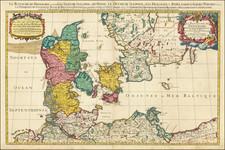 Denmark Map By Pierre Mortier