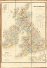 British Isles Map By Eugène Andriveau-Goujon