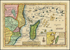 East Africa and African Islands, including Madagascar Map By Herman Moll