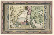 Asia, India and Southeast Asia Map By Pieter van der Aa