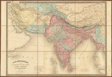 India and Persia Map By Eugène Andriveau-Goujon