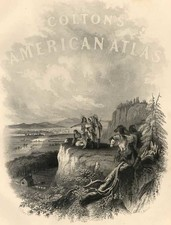 Curiosities and Title Pages Map By Joseph Hutchins Colton