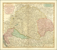 Hungary and Balkans Map By Laurie & Whittle