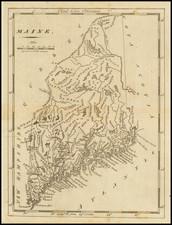 Maine Map By Mathew Carey