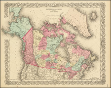 Alaska and Canada Map By Joseph Hutchins Colton