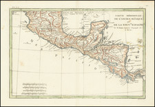 Mexico and Central America Map By Rigobert Bonne