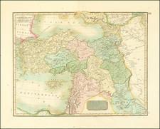 Turkey and Turkey & Asia Minor Map By John Thomson