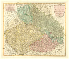 Poland and Czech Republic & Slovakia Map By Laurie & Whittle