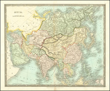 Asia Map By Henry Teesdale