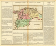 Geographical, Statistical and Historical Map of Colombia By Henry Charles Carey  &  Isaac Lea