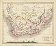 South Africa Map By John Dower