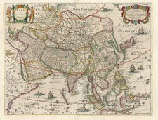 Asia and Asia Map By Jodocus Hondius
