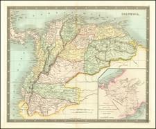 Colombia, Peru & Ecuador and Venezuela Map By Henry Teesdale