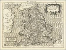 England Map By  Gerard Mercator / Jan Everts Cloppenburgh