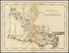 Louisiana Map By Mathew Carey