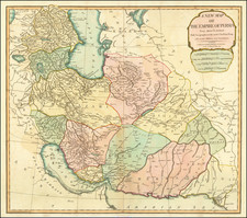 Central Asia & Caucasus and Persia Map By Laurie & Whittle