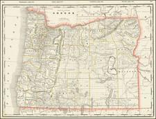 Oregon Map By George F. Cram