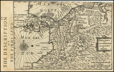 Colombia Map By Henricus Hondius -  Gerard Mercator