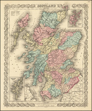 Scotland Map By Joseph Hutchins Colton